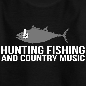 Hunting Fishing and Country Music - Kinder T-Shirt