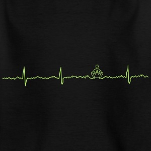 Heart beat deep squat - Kids' T-Shirt
