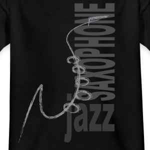 Jazz Saxophone - T-skjorte for barn