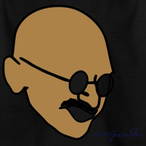 Gandhi drawing with signature - Kids' T-Shirt