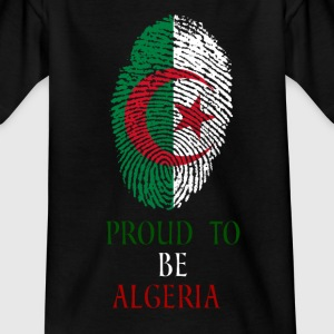 Proud to be Algeria Fingerabdruck - Kinder T-Shirt