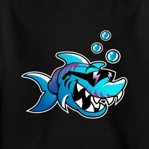 badass shark - Kids' T-Shirt