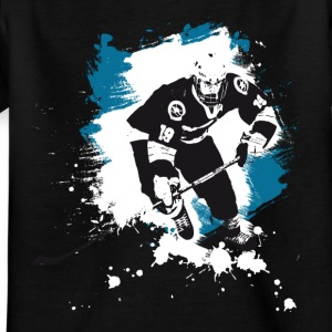 hockey puck hockey player attack polar bears sharks - Kids' T-Shirt