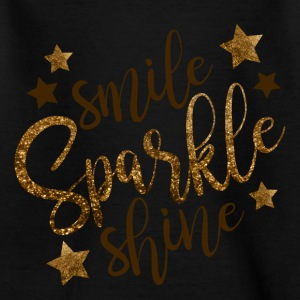 Smile Sparkle Shine - T-skjorte for barn