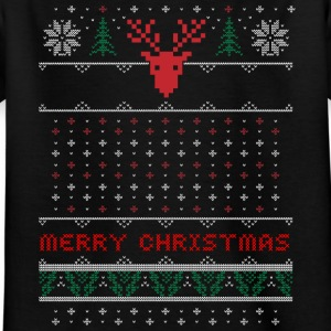 pattern-embroidered Christmas Christmas uguly antler - Kids' T-Shirt
