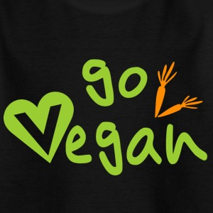 go vegan - Kids' T-Shirt
