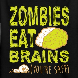 ZOMBIES ÄT BRAINS T-SHIRT - T-shirt barn