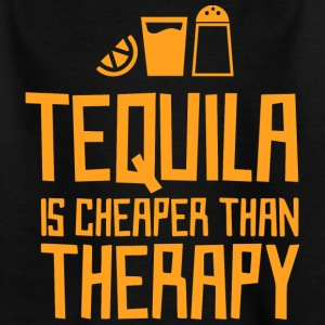 Tequila is goedkoper dan therapie - Kinderen T-shirt