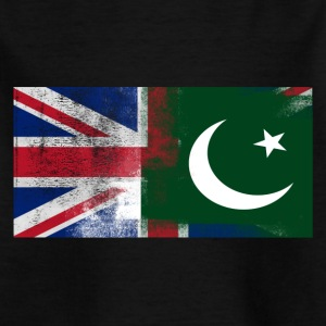Britische Pakistani Halb Pakistan Halb UK Flagge - Kinder T-Shirt
