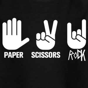 paper scissors rock - Kinderen T-shirt