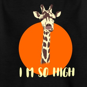 giraffe high high irony demanding gamer nerd geek - Kids' T-Shirt