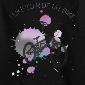 Love Cycling MTB BMX bike syringe streetart - Kids' T-Shirt