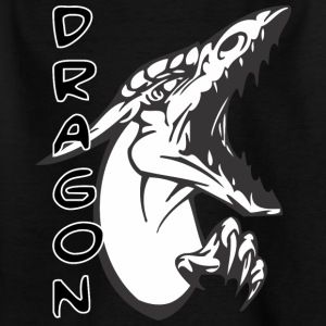 screaming sharp face dragon - Kids' T-Shirt