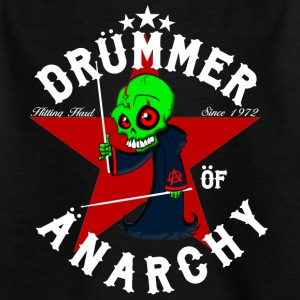 nsane Drummer - Drummer of Anarchy - wit - Kinderen T-shirt