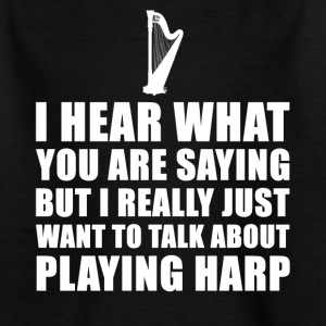 Funny Harpist Gift Idea - Kids' T-Shirt