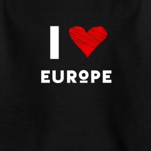 I Love Europe eu heart red love fun statement Demo - Kids' T-Shirt