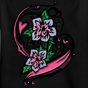 1heart and flowers - Kids' T-Shirt