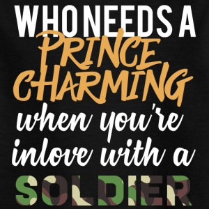 Militair / Soldier: Who Needs A Prince Charming - Kinderen T-shirt