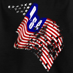 Worn-out USA flag - Kids' T-Shirt