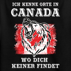 Orte in Canada - Kinder T-Shirt