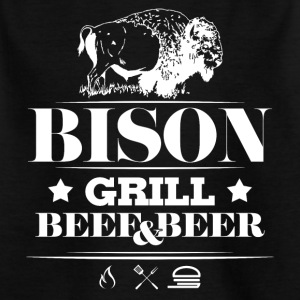 Grill · Barbecue · Bison - Kinderen T-shirt