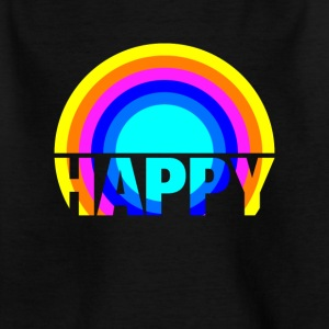 Happy Rainbow Gay Pride Regenbogen Kunst Design - Kinder T-Shirt