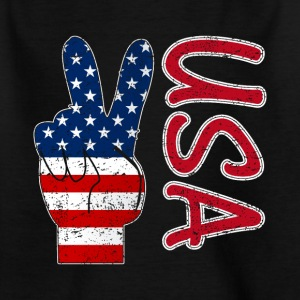Peace USA flag - Kids' T-Shirt