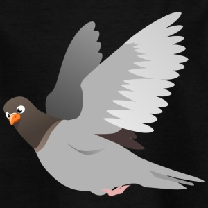 Dove in gray - Kids' T-Shirt