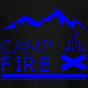 CAMP FIRE blue - Kids' T-Shirt
