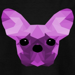 French Bulldog lilla Low Poly design - Maglietta per bambini