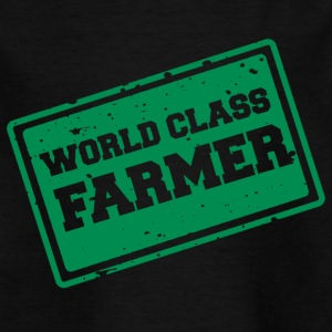 Farmer / Farmer / Farmer: World Class Farmer - Børne-T-shirt
