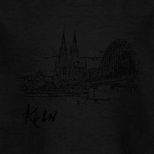 Cologne, city view as a sketch - Kids' T-Shirt