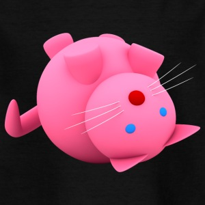 Pink Cat - T-shirt barn