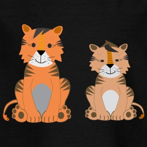 Two cute tigers - Kids' T-Shirt