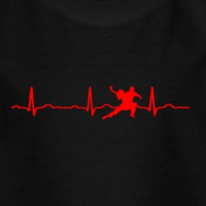 ECG HEARTBEAT DANCING red - Kids' T-Shirt