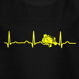 ECG HEARTBEAT RACING MOWER yellow - Kids' T-Shirt