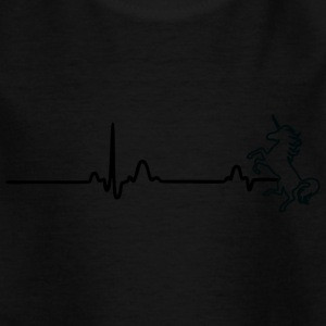 ECG HEART LINE UNIT black - Kids' T-Shirt