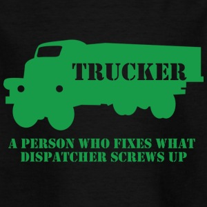 Trucker / truck driver: A person who fixes what - Kids' T-Shirt