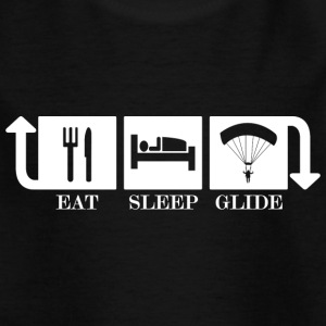 eat sleep glide - Kinder T-Shirt