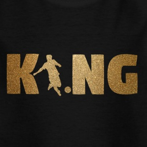 KING fotboll! Fotboll! Ball! Gåva! - T-shirt barn