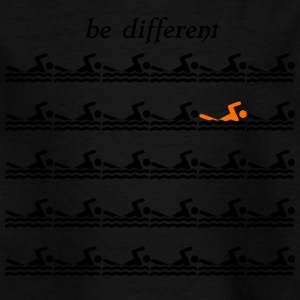 "Swimmershirt swimmers shirt ""be different"" - Kids' T-Shirt"