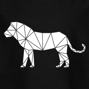 Lion geometry triangle art - Kids' T-Shirt