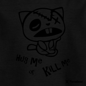 "Happy Tree Friends ""Koester me of te doden me"" - Dark cat ' - Kinderen T-shirt"