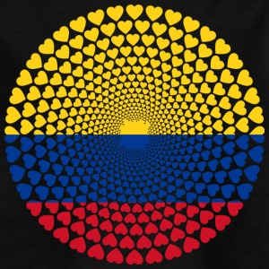 Colombia Colombia Heart Mandala - Børne-T-shirt