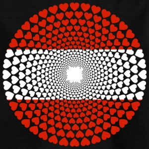 Autriche Love Heart Mandala - T-shirt Enfant