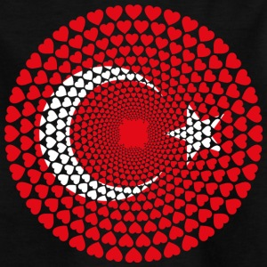 Turkiet Türkiye Love Heart Mandala - T-shirt barn