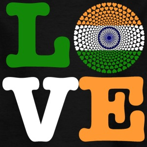 India INDIEN Love HERZ Mandala - Kinder T-Shirt