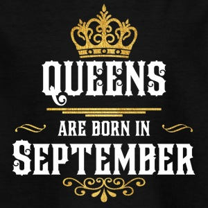 Queens Born september - T-skjorte for barn