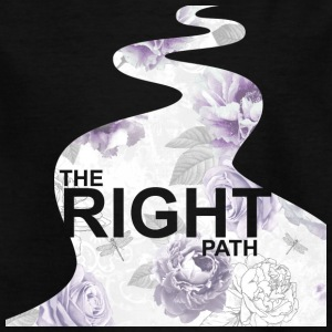 Purple Floral Path ™ - Børne-T-shirt