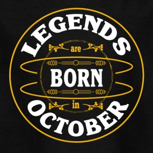 Birthday October legends born gift birth - Kids' T-Shirt